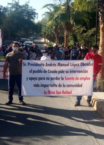 mineros de Cosalá protestan por reapertura de mina